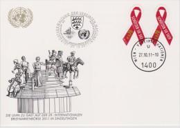 United Nations Show Card 2011 ´Sindelfingen´ - December 2011 - Mi 729 Fighting Aids - 30 Years Of A World Living With - Centre International De Vienne