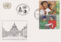 United Nations Show Card 2011 ´Salon D´Autumne´ - November 2011 - Mi 730-731 Economic And Social Council (ECOSOC) - Centre International De Vienne