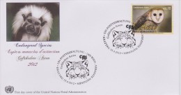 United Nations FDC Mi 751 Endangered Species - Australian Masked Owl (Tyto Novaehollandiae) - 2012 - FDC