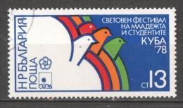 53-844 //BG -1978   WELTFESTSPIELE Der JUGEND In HAVANNA  Mi 2676 O - Gebraucht