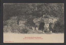 DF / 54 MEURTHE ET MOSELLE / PIERRE-LA-TREICHE / GROTTES DE SAINTE-REINE / ANIMÉE / CIRCULÉE EN 1915 - Autres Communes