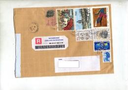Lettre Recommande Centre Choron Sue Brayer Arp Buffet - Marcophilie (Lettres)
