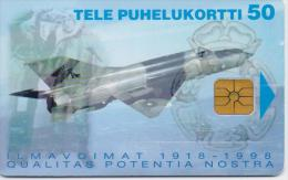FINLAND PHONECARD(CHIP) AIRPLANE 12/97-20000pcs-D151-USED(2) - Avions