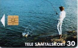 FINLAND(ALAND) PHONECARD(CHIP) FISHERMAN   10/97-7000pcs-D147-USED(2)