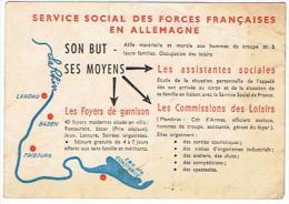 SERVICE SOCIAL DES FORCES FRANCAISES EN ALLEMAGNE - Militaria