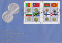 United Nations Vienna FDC Mi 738-745 Flags And Coins - Cameroon - Samoa - Bulgaria Suriname - Macedonia - Finland - 2012 - FDC