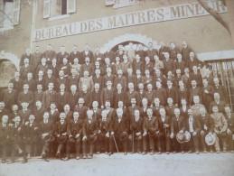 Photo 19�me / d�but 20 �me . Bess�ges Gard � c�t� d'Ales.Bureau des ma�tres mineurs. Th�me mine. Par Gascuel 28.5 X 21.5