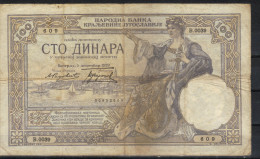 Yugoslavia,100 Din 1929.,G - Jugoslavia