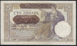 Yugoslavia,100 Din 1941.,EF - Joegoslavië