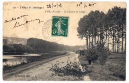 Cpa L´oise Pittoresque,l´isle Adam,le Chemin De Halage - L'Isle Adam
