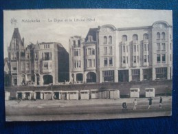 MIDDELKERKE : La Digue Et Le Littoral Hôtel En 1927 - Middelkerke