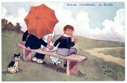 Romantic Humour 'Where Ignorance Is Bliss' - Artist Signed Reg Carter - Humor