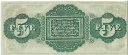 UNITED STATES STATE OF SOUTH CAROLINA 5  $ 1872 ISSUED !!  a UNC /  q FdS