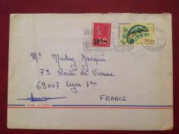 St SAINT DENIS DE LA REUNION  974 Sur  N°399 Caméléon Et 393 Floralies Par Avion - Isola Di Rèunion (1852-1975)