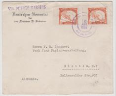 Sal005/ EL SALVADORB -  Vom Deutschen Konsulat In El Salvador  Nach Stettin 1929 - El Salvador