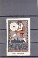 Vignette Werbemarke, Schützen, 26. Verbandsschiessen Mittelrhein-Pfalz In Mainz, Mit Gummi 1913 - Reclame