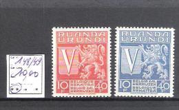 Ruanda-Urundi : n� 148/49 ** Fra�cheur postale  Cote COB : 10,00 �.