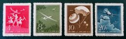 POUR LES SPORTS AERIENS 1958 - NEUFS SG - YT 1177/80 - MI 422/25 - DENTELES 14 - Nuevos