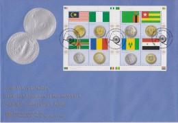 United Nations Vienna FDC Mi 798-805 Flags And Coins - Malaysia - Nigeria - Dominica - Chad - Zambia - Togo - 2013 - FDC
