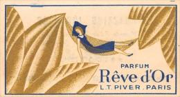 """02038 """"PARFUM REVE D'OR - .L.T. PIVER - PARIS - MAGAZZINO INGROSSO DI BERTOLOTTI PRIMO - OMEGNA"""" ETICHETTA  ORIGINALE. - Etichette"""