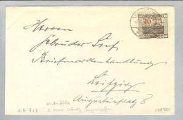 DE Saar 1921-09-05 Brief Mi# 74II Plattenfehler 2 - 1920-35 Société Des Nations