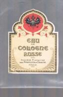 Etiquette . Eau De Cologne RUSSE . - Perfume Cards