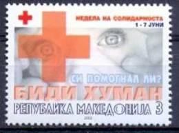 MK 2002-ZZ119 RED CROSS SOLIDARNOST, MACEDONIA, 1v, MNH - Macedonië