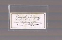 Etiquette . Eau De Cologne . Surfine Extra Vieille Aux Paefums D'Orient . - Perfume Cards
