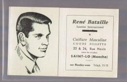 RENE BATAILLE . Coiffure Masculine . SAINT - LO ( Manche ) . - Publicités
