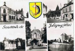CPM ALLIER -  SOUVENIR DE JALIGNY SUR BESBRE - ECRITE EN 1957 - Non Classés