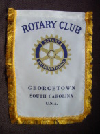 Vintage Fanion:   GEORGETOWN.   SOUTH CAROLINA.      (U.S.A.).  -   ROTARY  CLUB  INTERNATIONAL - Organisaties