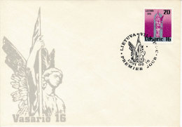 FDC Mi 470 - 16 February 1991 / 73rd Anniversary Of The Republic Of Lithuania - Lithuania