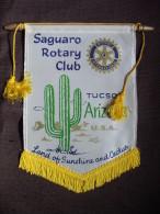 Vintage Fanion:   TUCSON.    ARIZONA.     (U.S.A.).  -   ROTARY  CLUB  INTERNATIONAL - Organisaties