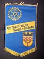 Vintage Fanion:  WETTER-RUHTAL    (ALLEMAGNE.).  -   ROTARY  CLUB  INTERNATIONAL - Organisations
