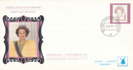 Nederland - W-enveloppe/Philato - 3-9-1991 - Koningin Beatrix - Inversie - ROM W96- NVPH 1489A - FDC