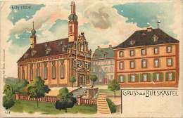 Allemagne -ref A945- Gruss Aus Blieskastel - Dessin Illustrateur - Kath Kirche - - Non Classificati