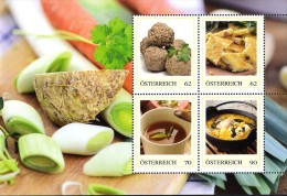ÖSTERREICH 2015 ** Suppen Mit Gemüse Und Einlagen - PM Kleinbogen MNH - Ernährung