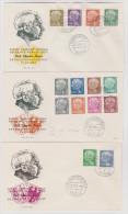 DE Saarland 1957 Ersttagsbriefe Mi# 409-428 - 1957-59 Fédération