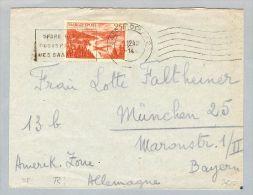 DE Saarland 1949-12-01 Brief EF Mi# 252 - 1947-56 Occupation Alliée
