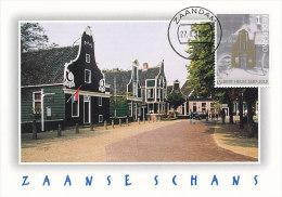 D20941 CARTE MAXIMUM CARD 2012 NETHERLANDS - HOUSES ZAANSCHE SCHANS ZAANDAM CP ORIGINAL - Architecture