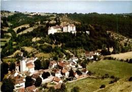 Belle  CPSM  -   Vaillac -  Le Bourg Et Le Château                               U340 - France