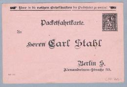 DR Privatpost Berlin Ganzsache Ungebraucht (Carl Stahl) - Private