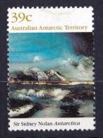 Australian Antarctic 1989 Landscape Painting By Nolan 39c Antarctica Used - - - Australian Antarctic Territory (AAT)