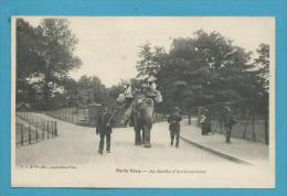 CPA PARIS VECU Promenade à Dos D'éléphant Au Jardin D'Acclimatation - Altri
