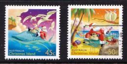 Christmas Island 2003 Christmas Set Of 2 Used - - - Christmaseiland