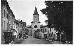 CPSM - CHALMAZELLES (42) - Aspect De L'Hôtel Et De La Boucherie Rue De L'Eglise Dans Les Années 40 - France