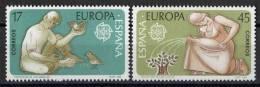 SERIE TIMBRES ESPAGNE NOUVEAUX 1986 EUROPA CEPT PROTECTION LES ANIMAUX ET DES PLANTES - ENFANTS OISEAUX ARBRE - Europa-CEPT