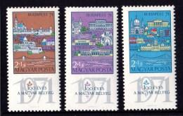 Hungary 1970 Budapest 71 Stamp Exhibition Set Of 3 MNH - Hungary