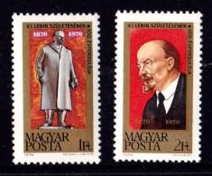 Hungary 1970 Lenin Centenary Set Of 2 MNH - Hungary
