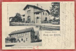 67 - GRUSS Aus ERSTEIN - Bahnhof - Gare - Bahnhof Restauration SCHMUTZ - France